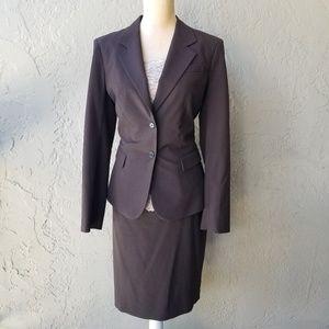 The Limited Brown Skirt Suit Set - bonus cami!